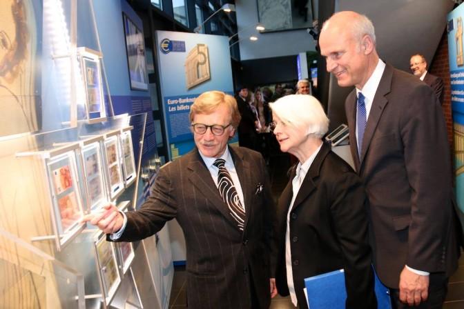 Michael Best (Bundesbank, Mondérateur), Yves Mersch, Anne Le Lorier, Carl-Ludwig Thiele