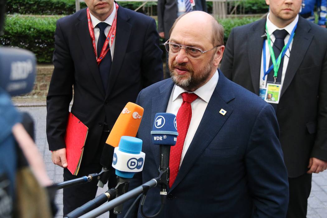 Martin Schulz, President of the European Parliament, speaks of the European Council in Brussels, Belgium