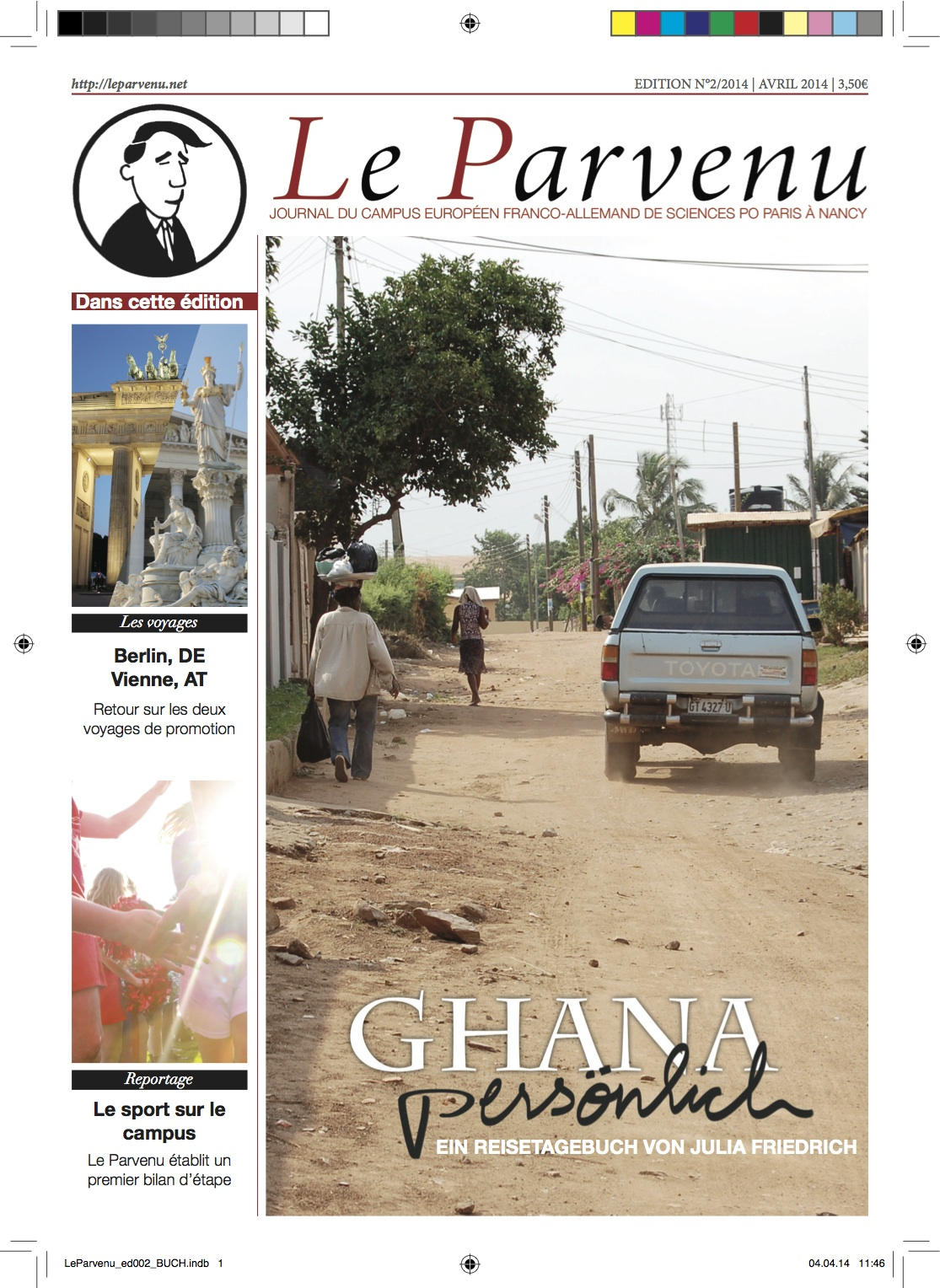 Cover of the second edition of Le Parvenu in its new design.