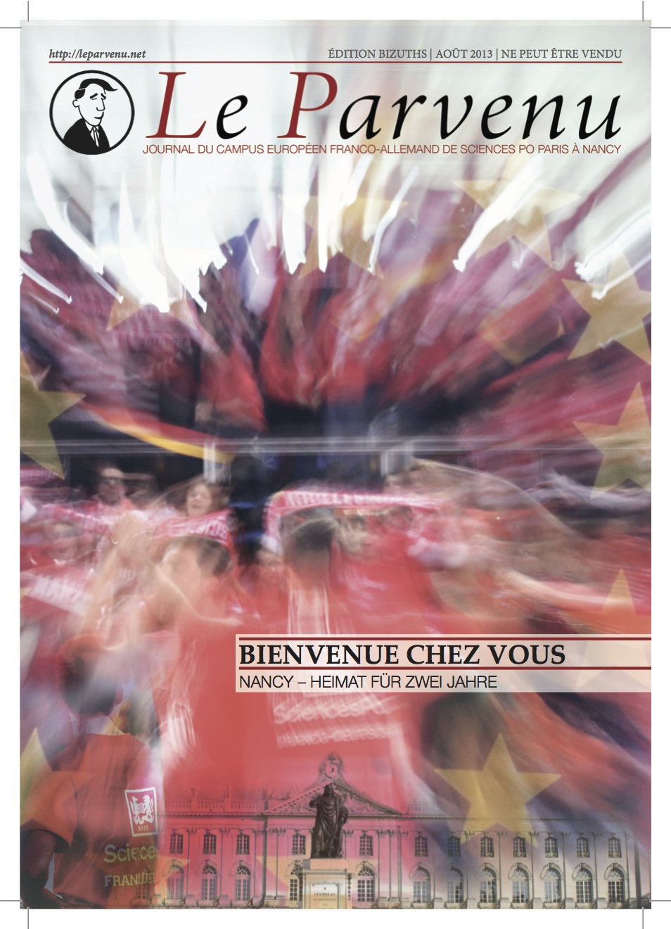 Cover of the Le Parvenu welcome edition 2014.