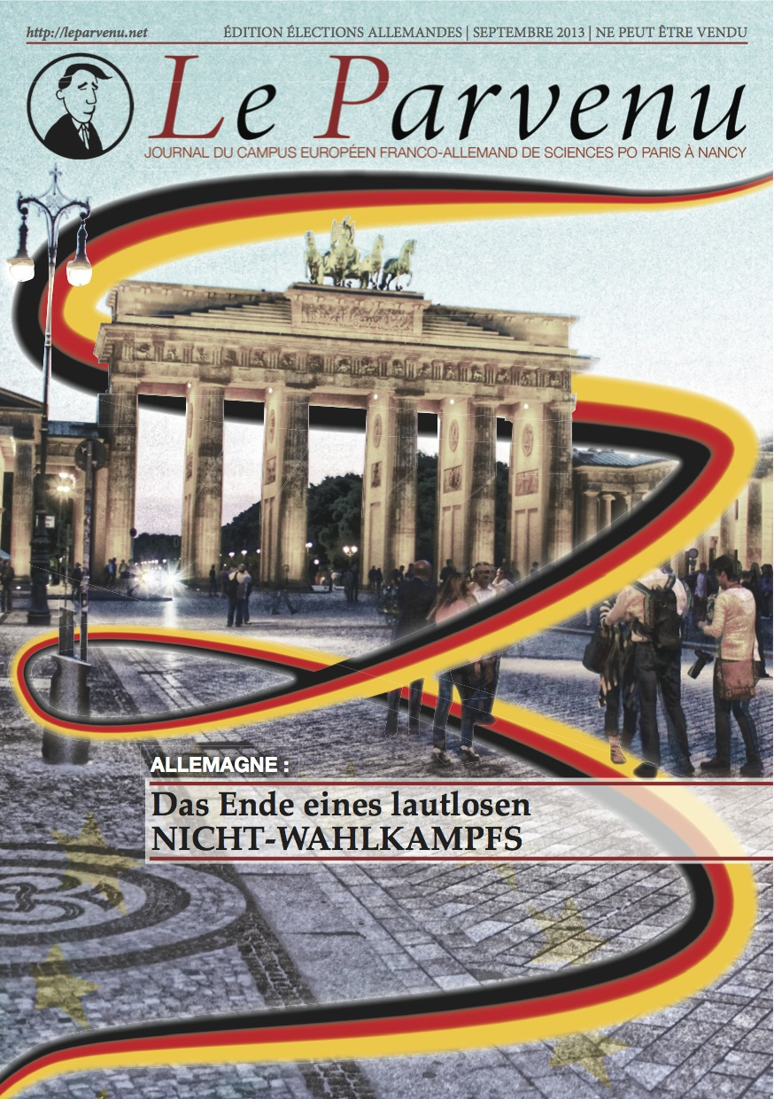 Cover of the Le Parvenu edition for the German elections.