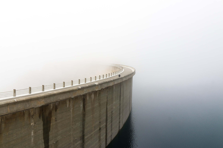 Un barrage dans les Pyrénées, Août 2017