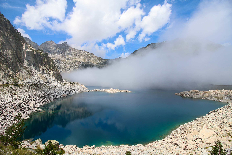 Un lac dans les Pyrénées, Août 2017
